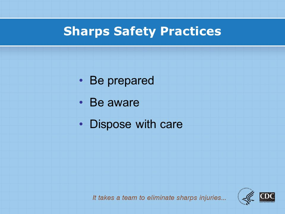 Sharps Safety Practices