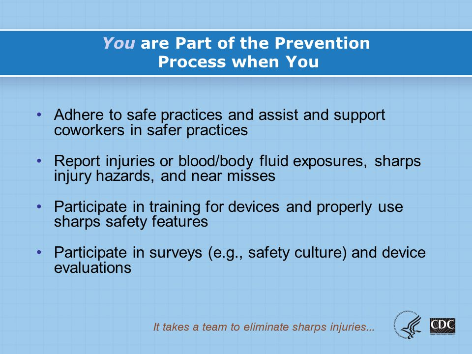 You are Part of the Prevention Process when You