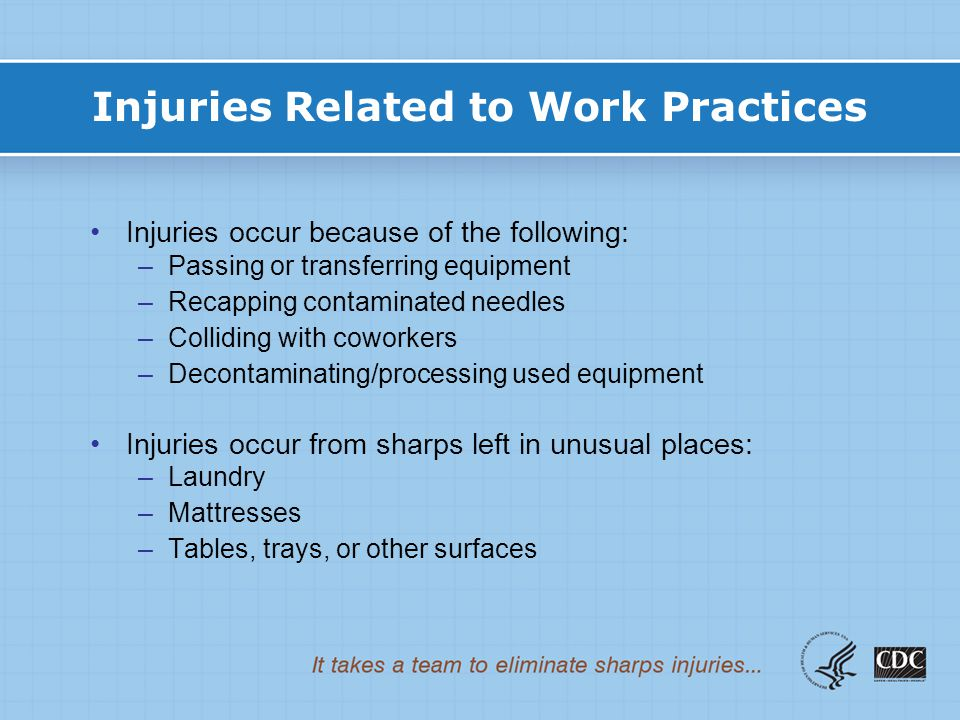 Injuries Related to Work Practices