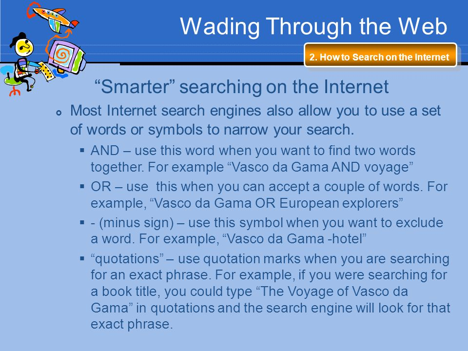 Smarter searching on the Internet