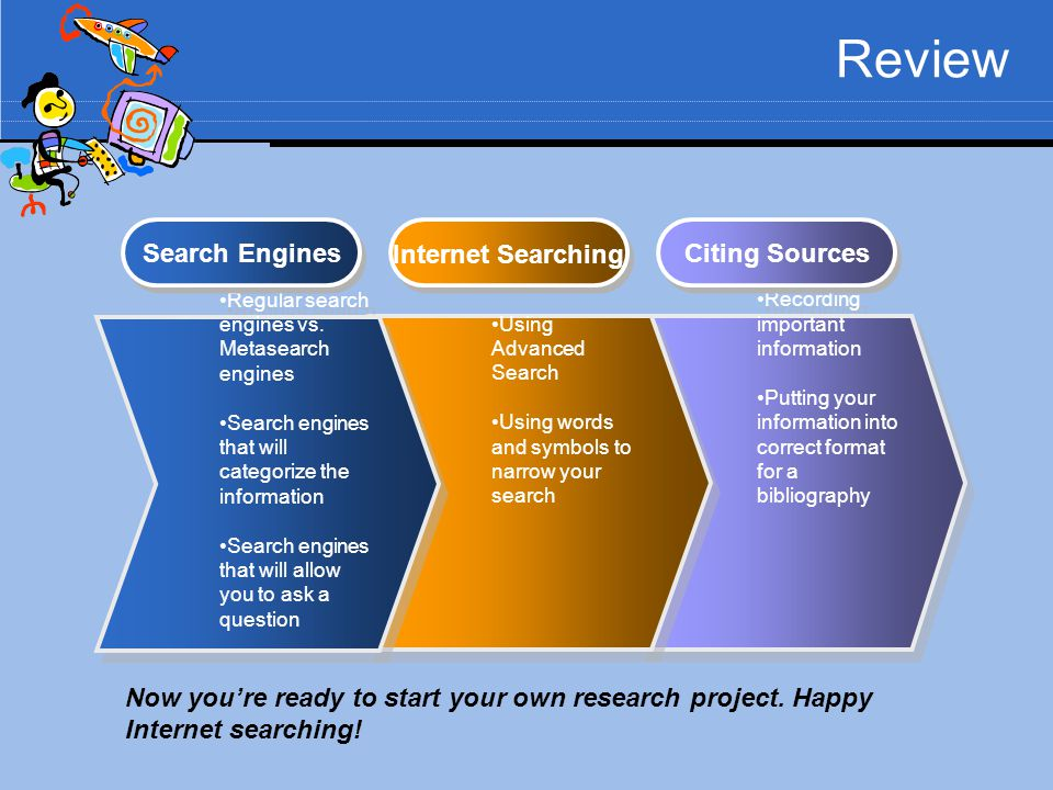 Review Search Engines Internet Searching Citing Sources