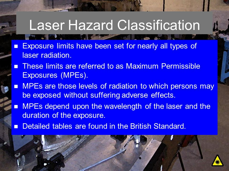 Laser Hazard Classification