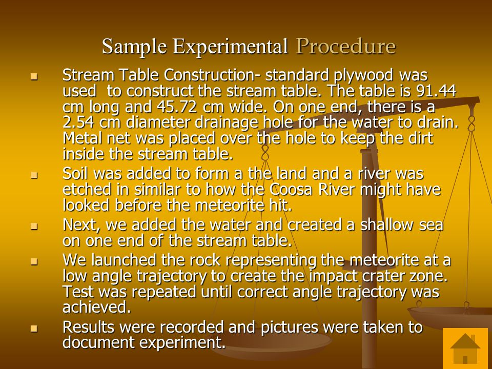 Sample Experimental Procedure