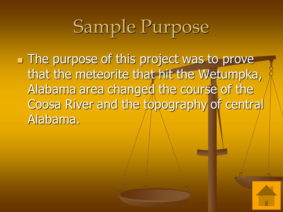 Sample Purpose