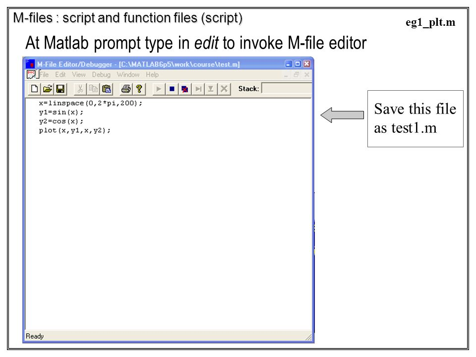 At Matlab prompt type in edit to invoke M-file editor
