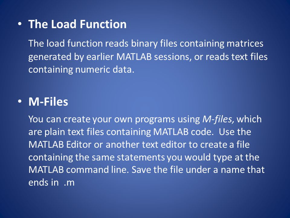 The Load Function