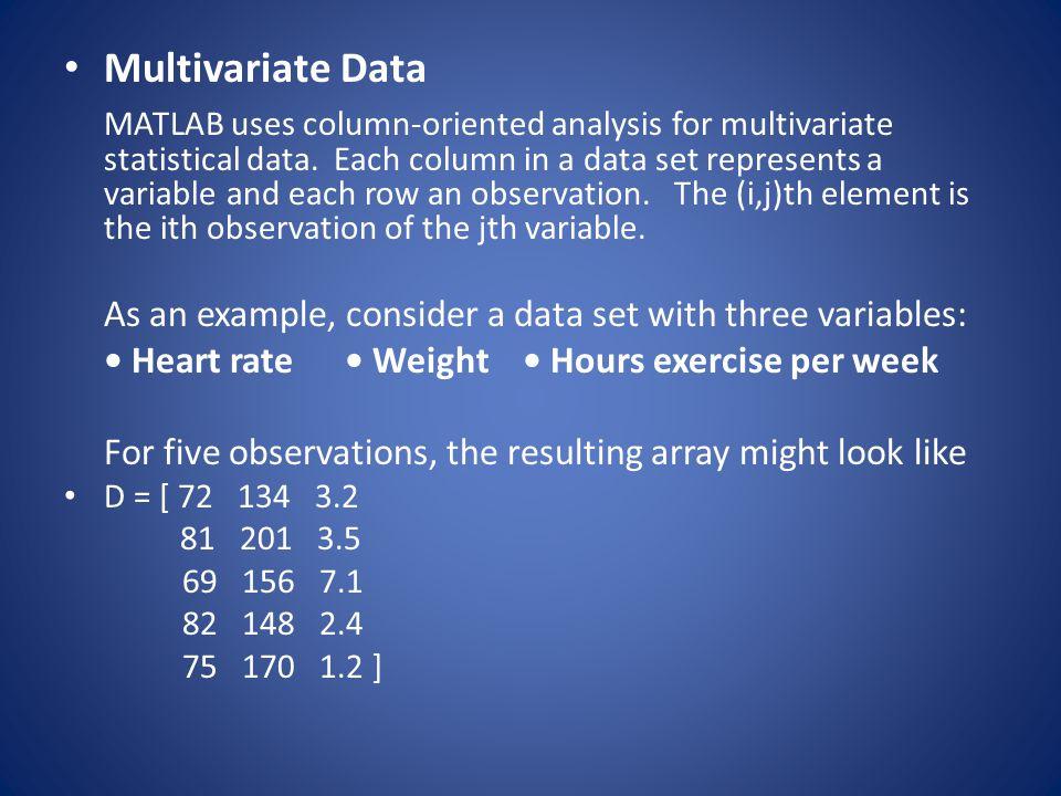 Multivariate Data