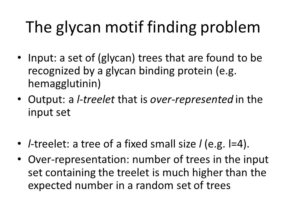 The glycan motif finding problem