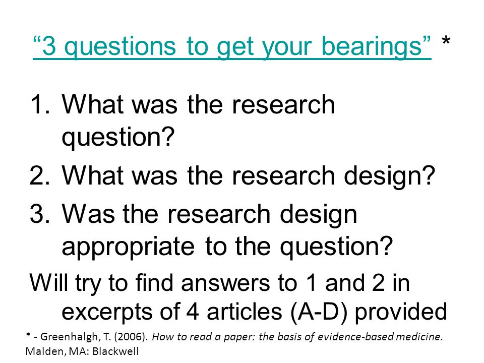 3 questions to get your bearings *