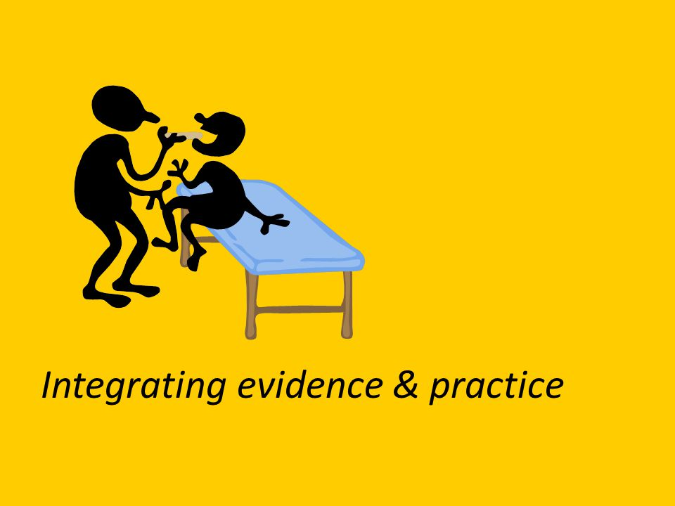 Integrating evidence & practice