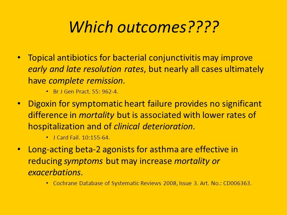 Which outcomes