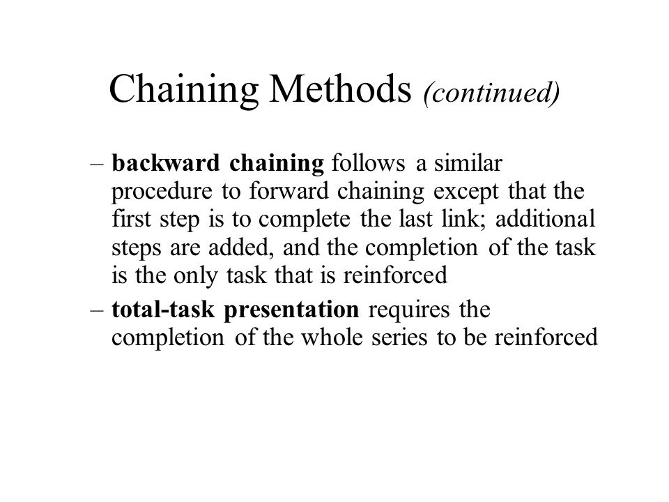 Chaining Methods (continued)