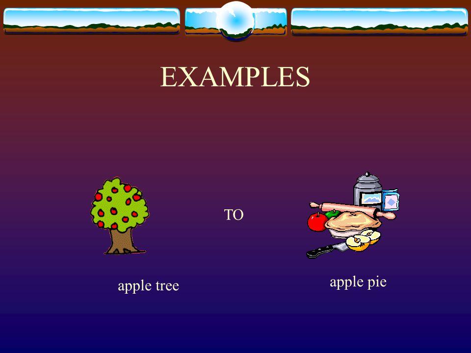 EXAMPLES TO apple pie apple tree