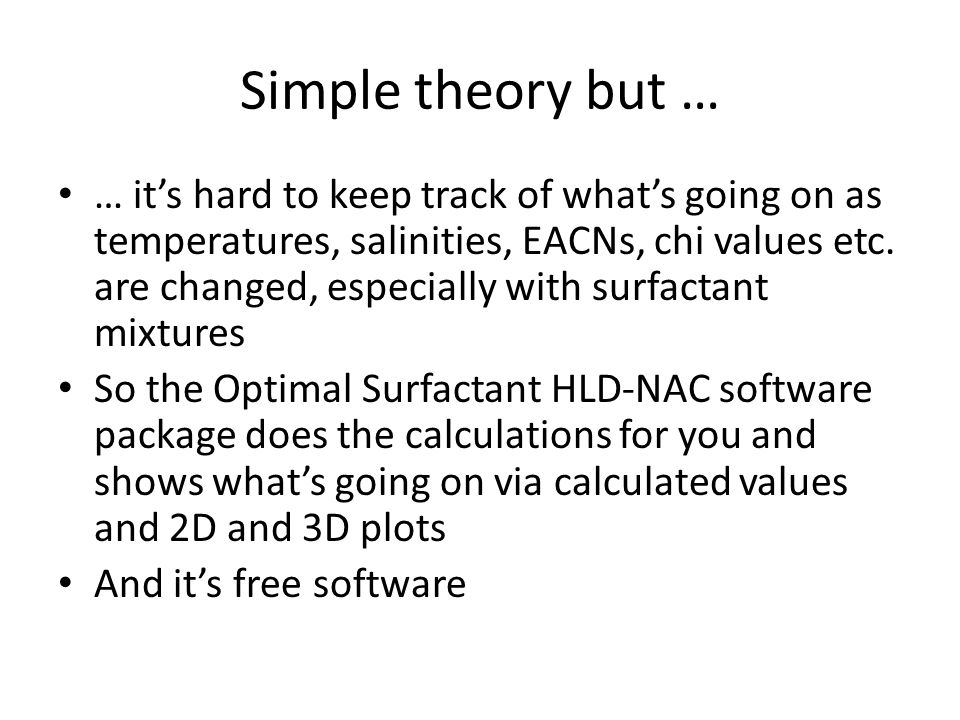 Simple theory but …