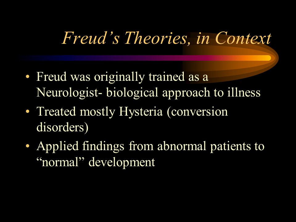Freud's Theories, in Context