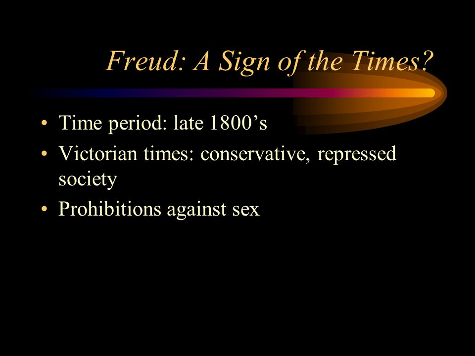 Freud: A Sign of the Times