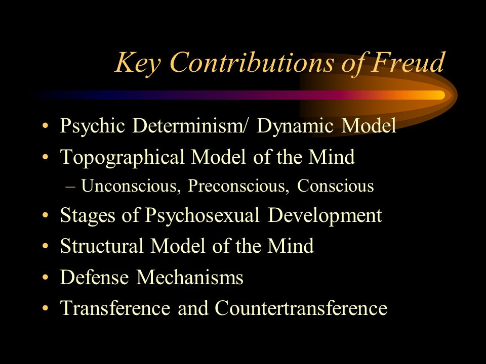 Key Contributions of Freud