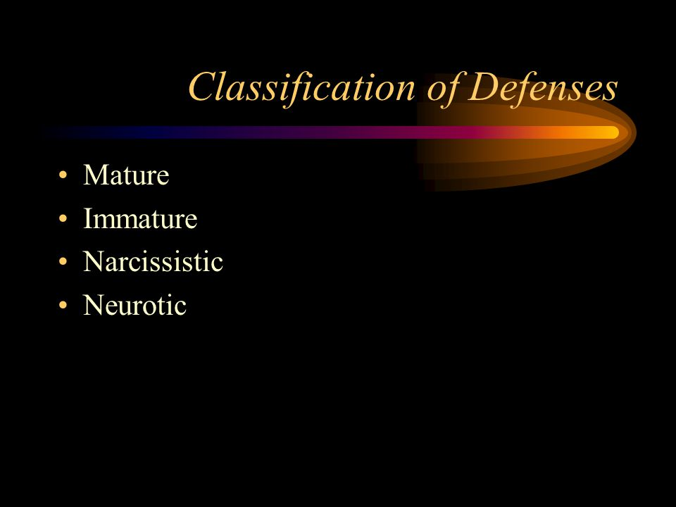 Classification of Defenses