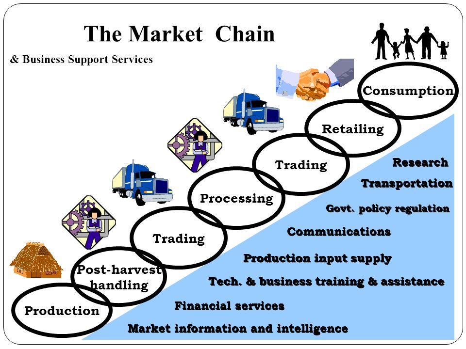 The Market Chain Consumption Retailing Trading Processing Trading