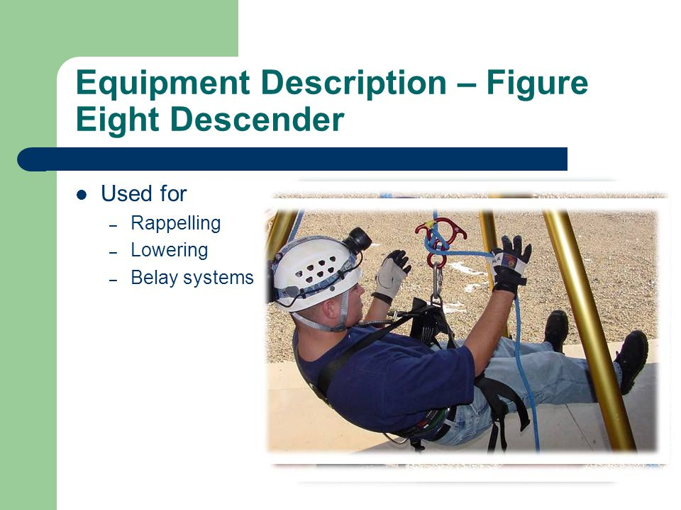 Equipment Description – Figure Eight Descender