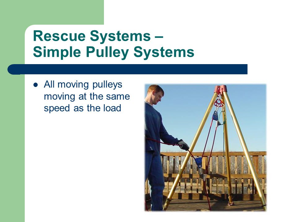 Rescue Systems – Simple Pulley Systems