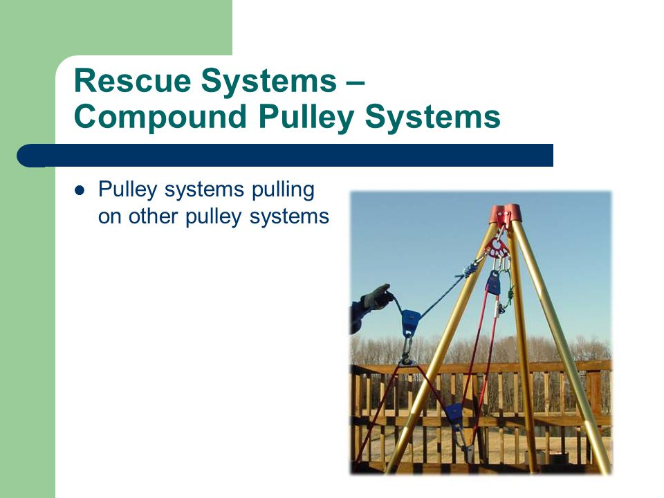 Rescue Systems – Compound Pulley Systems