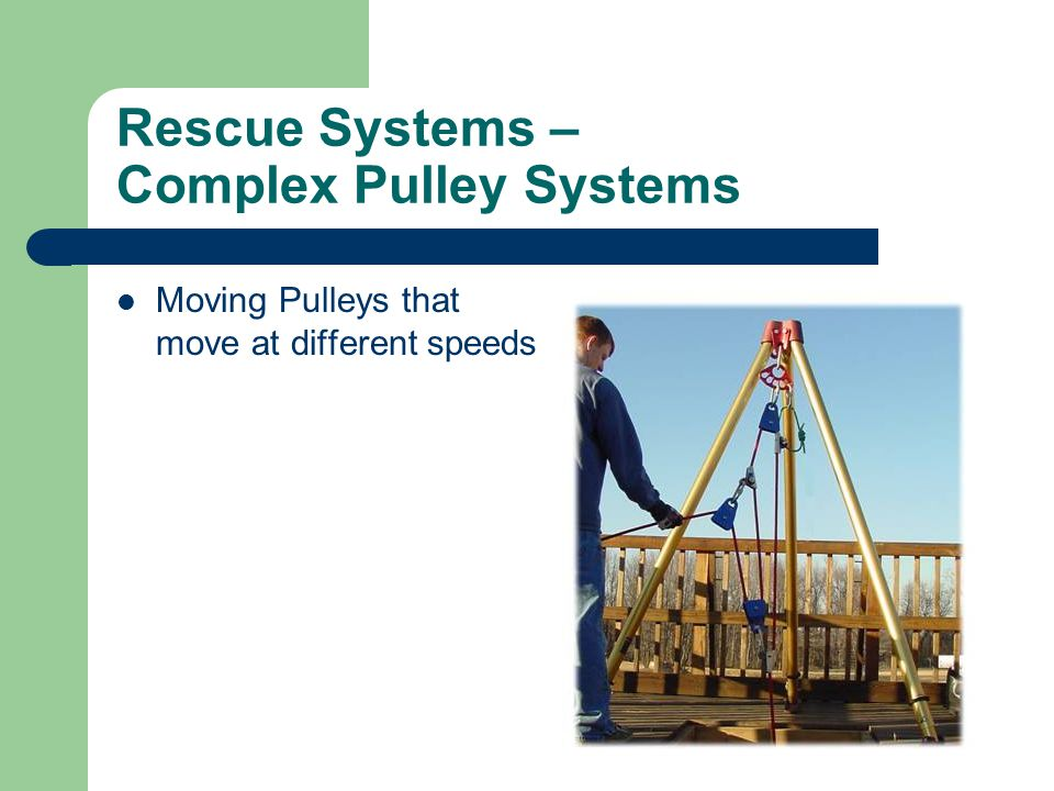 Rescue Systems – Complex Pulley Systems