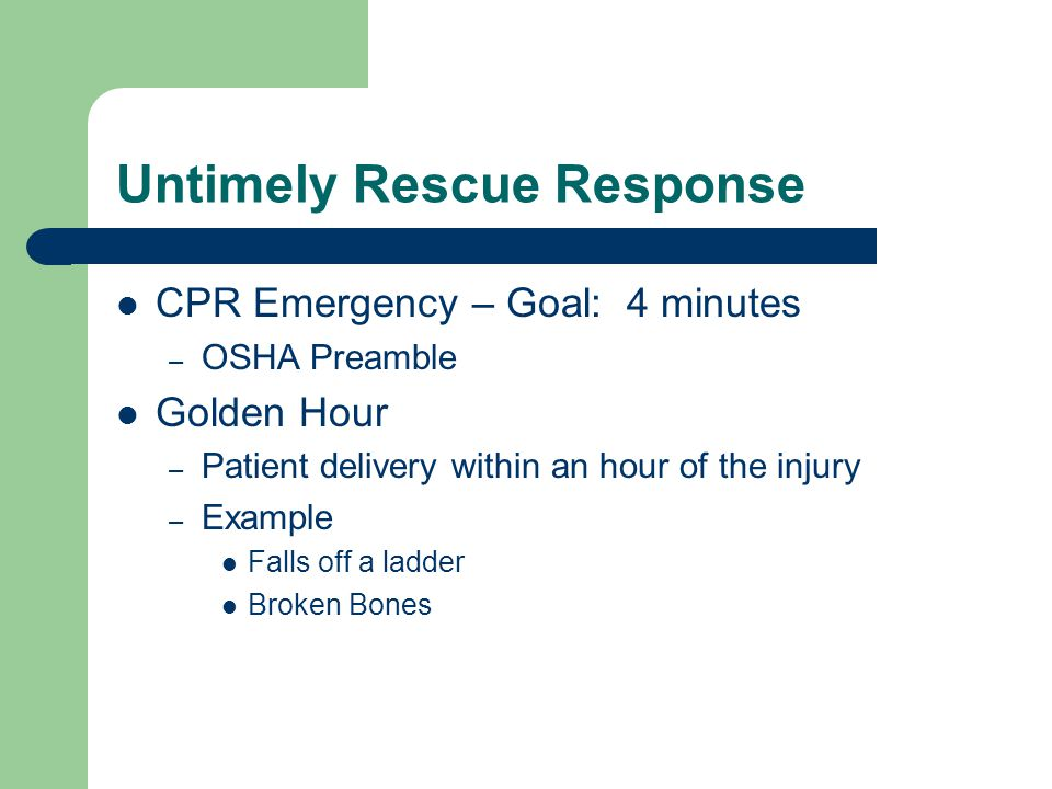 Untimely Rescue Response