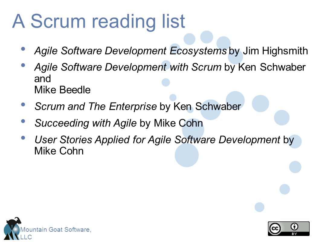 A Scrum reading list Agile Software Development Ecosystems by Jim Highsmith.