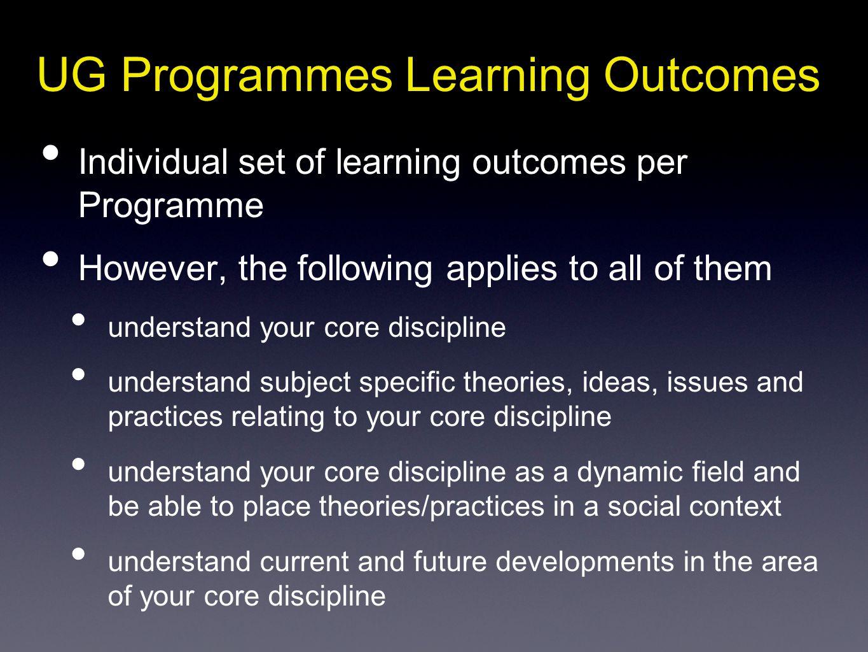 UG Programmes Learning Outcomes