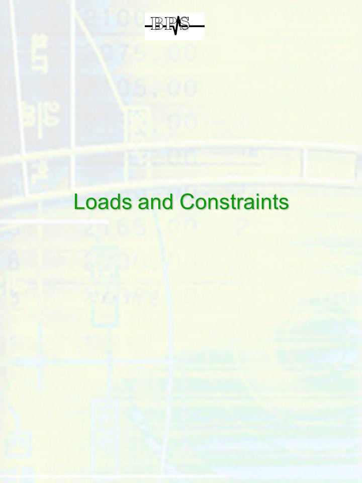 Loads and Constraints