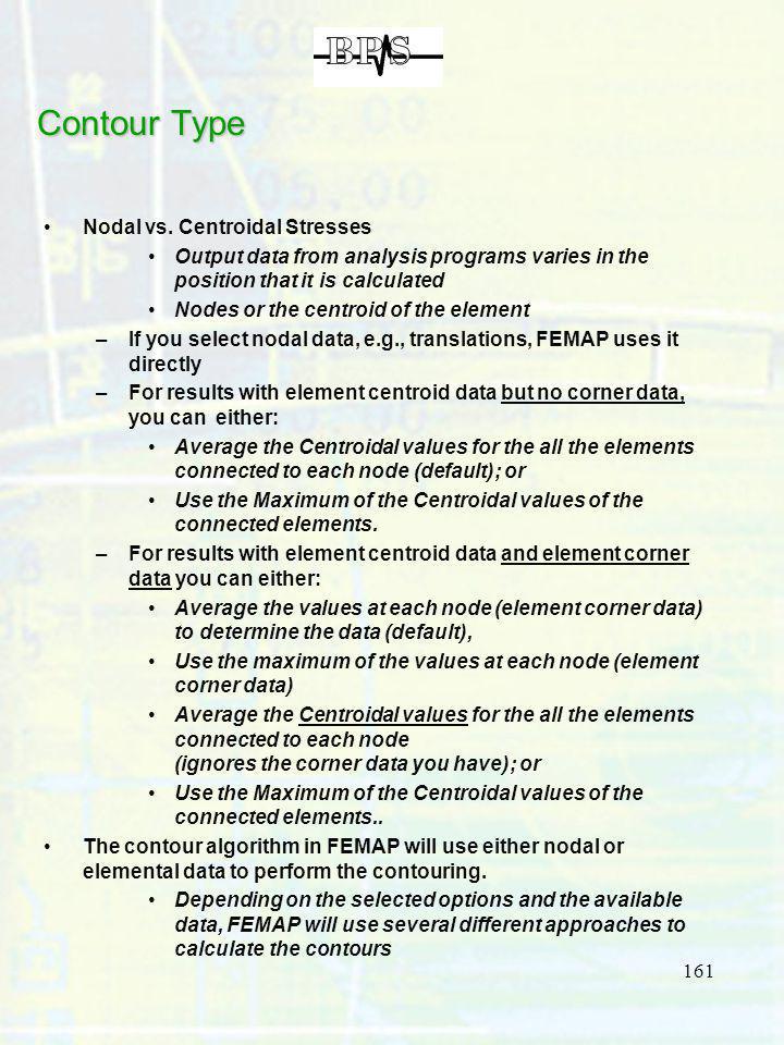 Contour Type Nodal vs. Centroidal Stresses