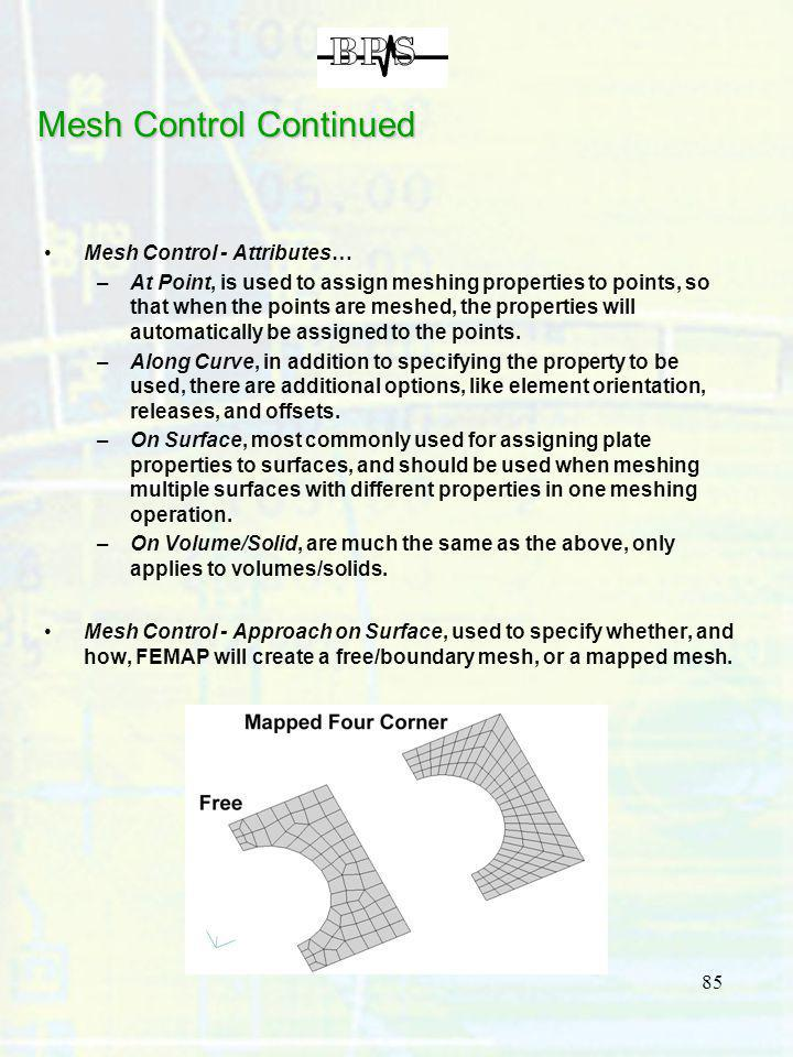 Mesh Control Continued