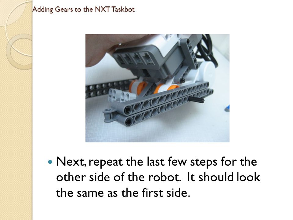 Adding Gears to the NXT Taskbot