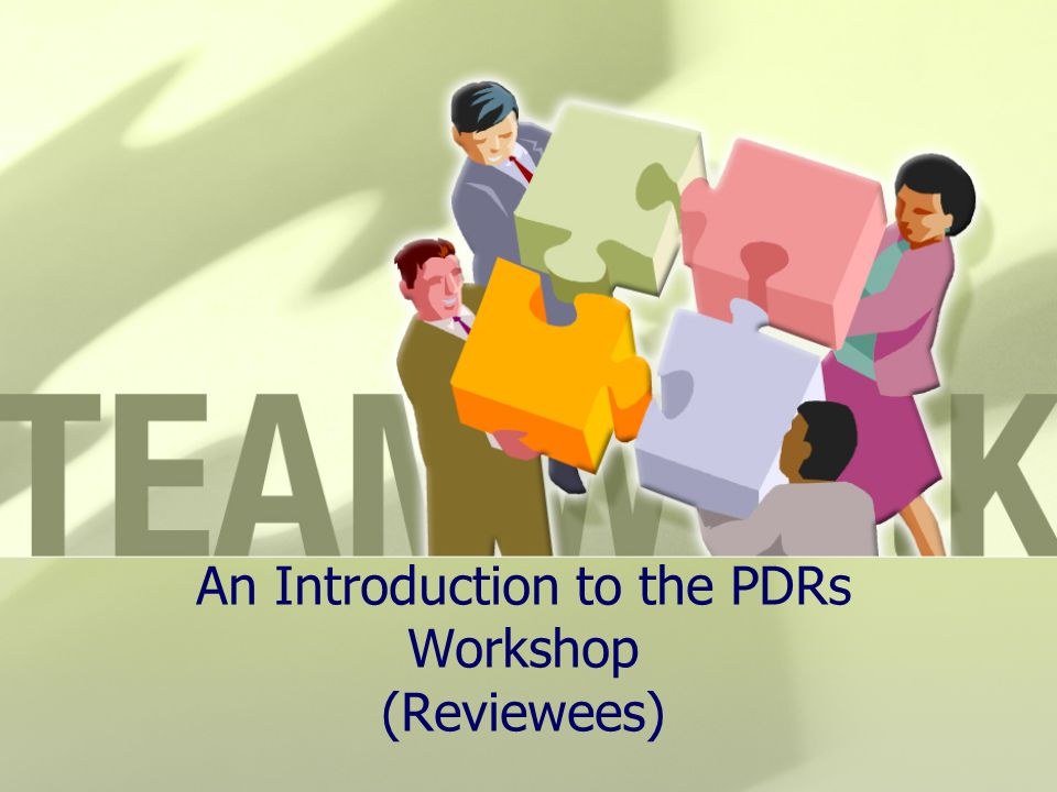 An Introduction to the PDRs Workshop (Reviewees)