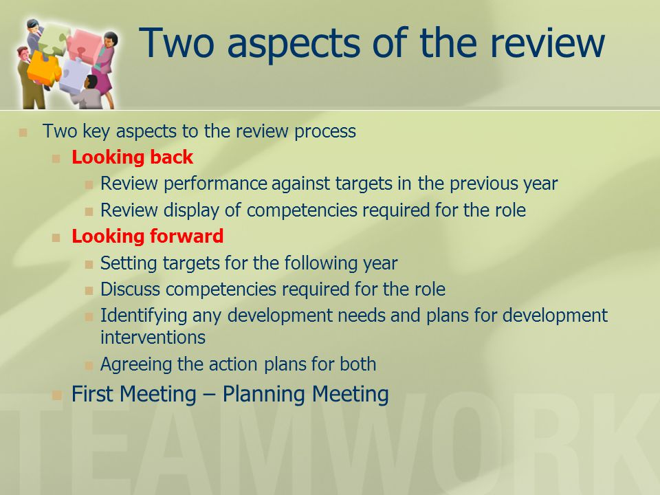 Two aspects of the review