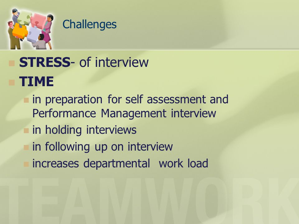 STRESS- of interview TIME Challenges