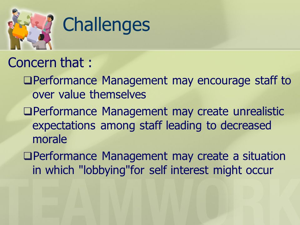Challenges Concern that :