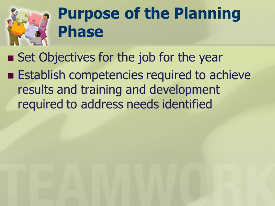 Purpose of the Planning Phase