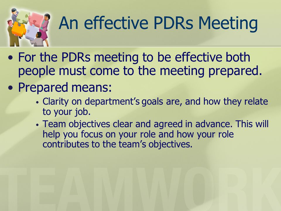 An effective PDRs Meeting