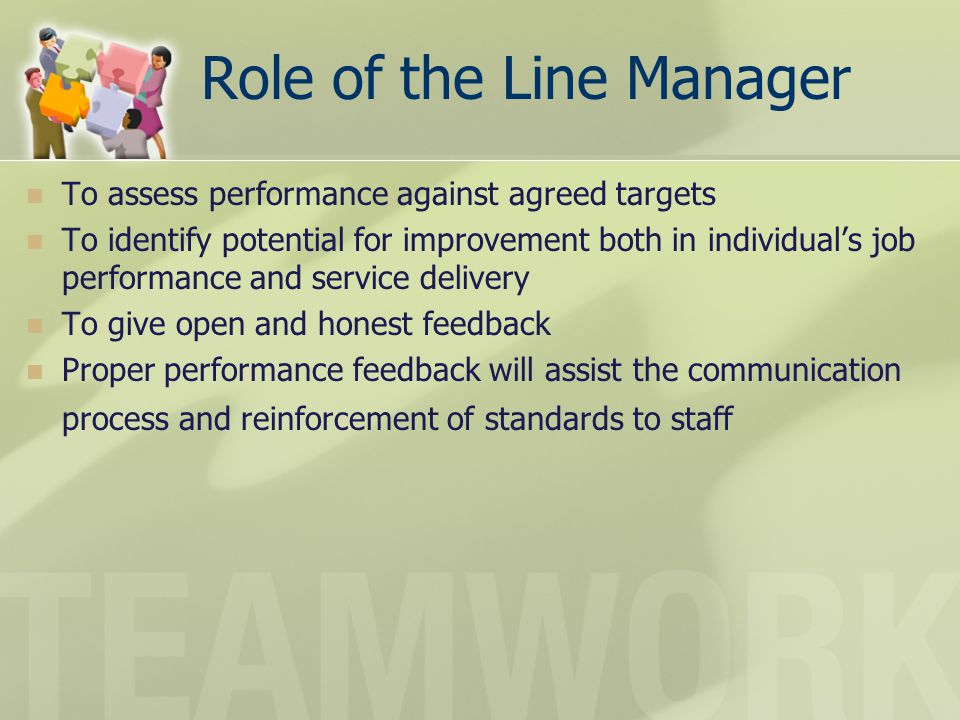 Role of the Line Manager