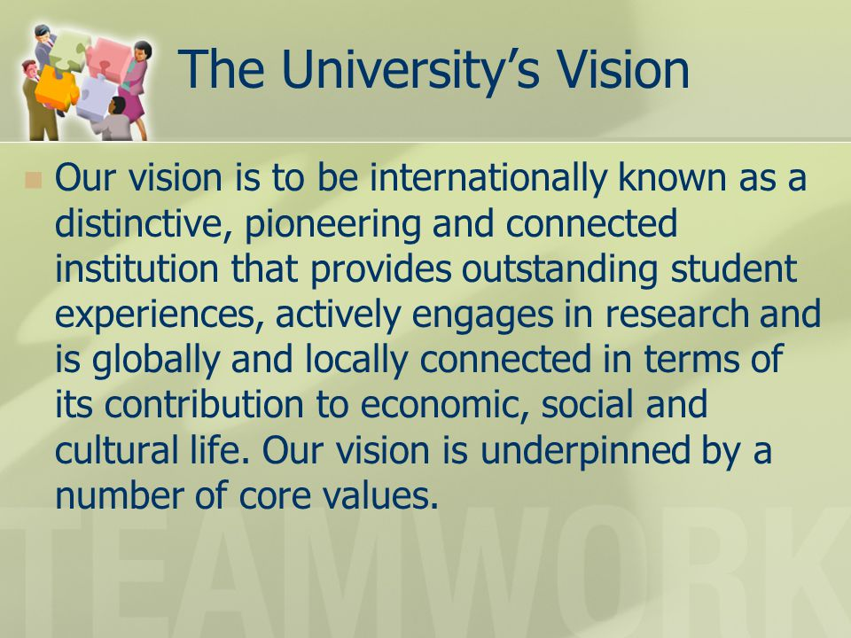 The University's Vision