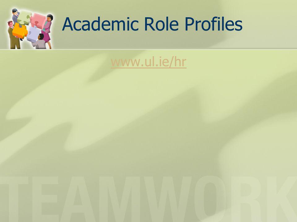 Academic Role Profiles