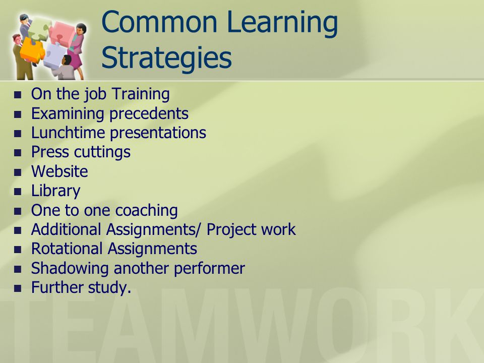 Common Learning Strategies