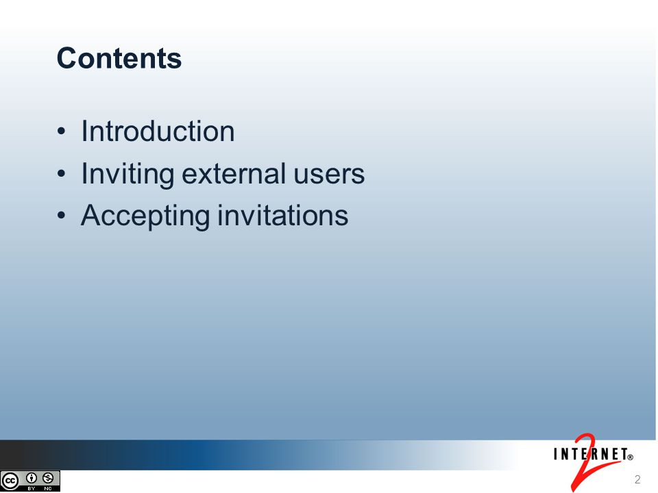 Contents Introduction Inviting external users Accepting invitations