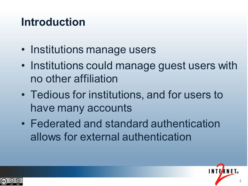 Institutions manage users