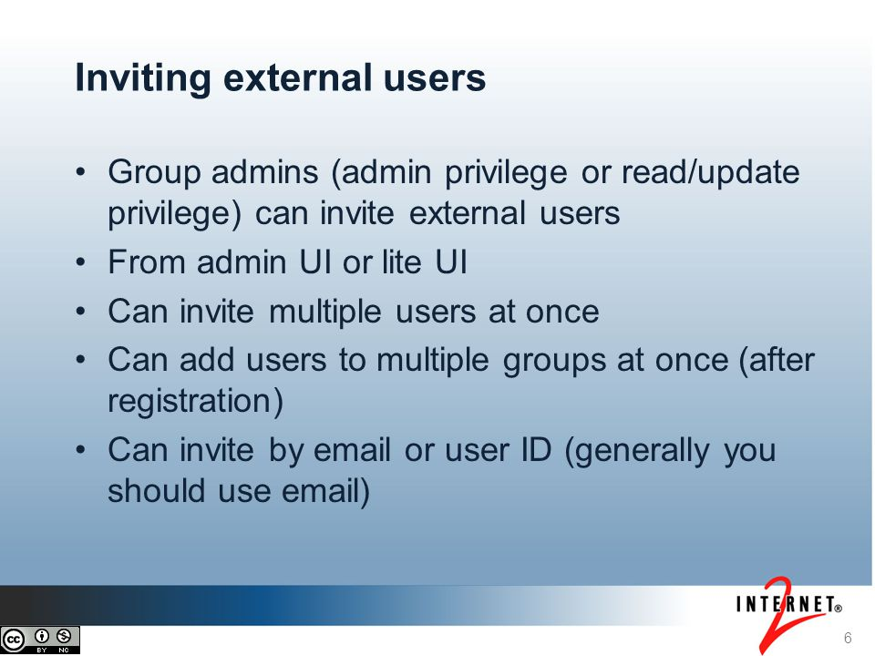 Inviting external users