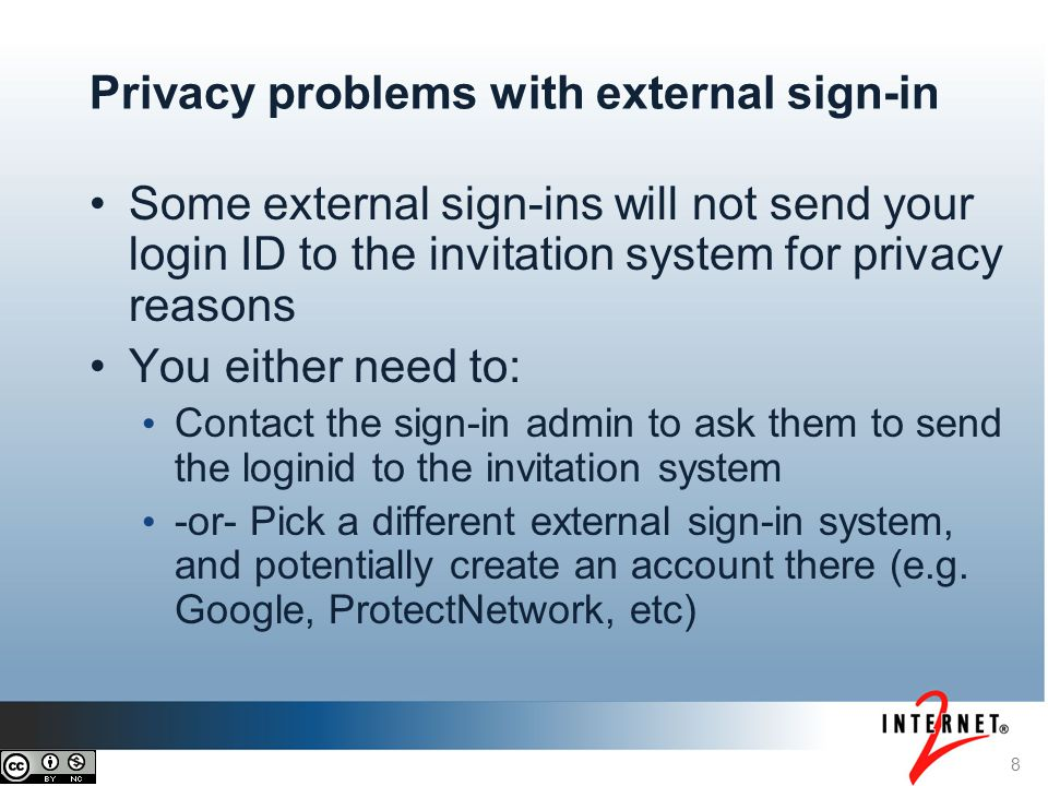 Privacy problems with external sign-in