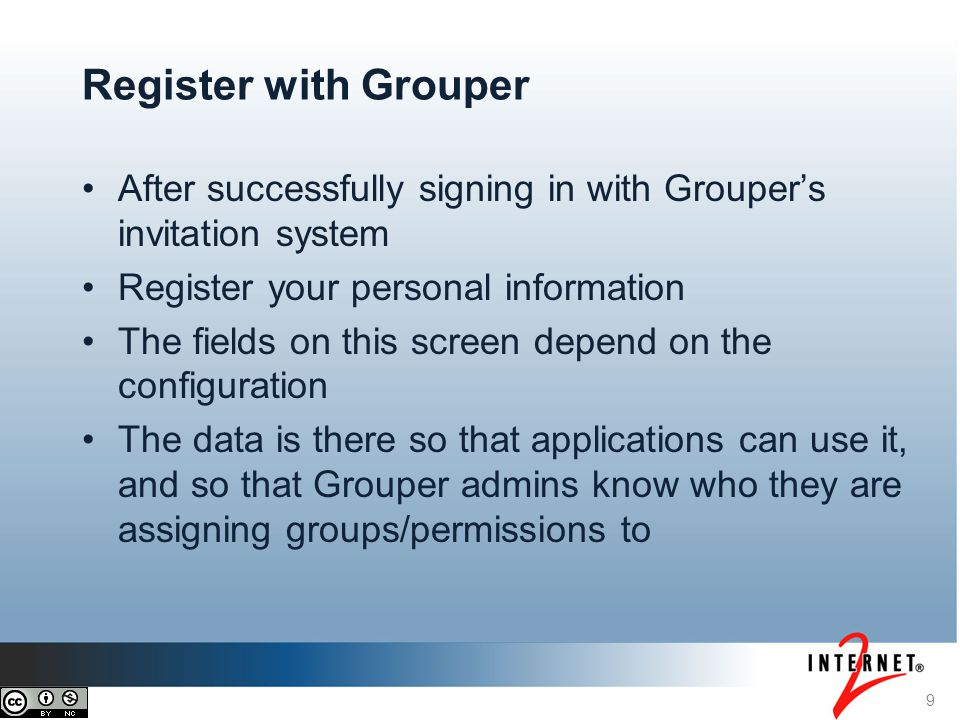 Register with Grouper After successfully signing in with Grouper's invitation system. Register your personal information.