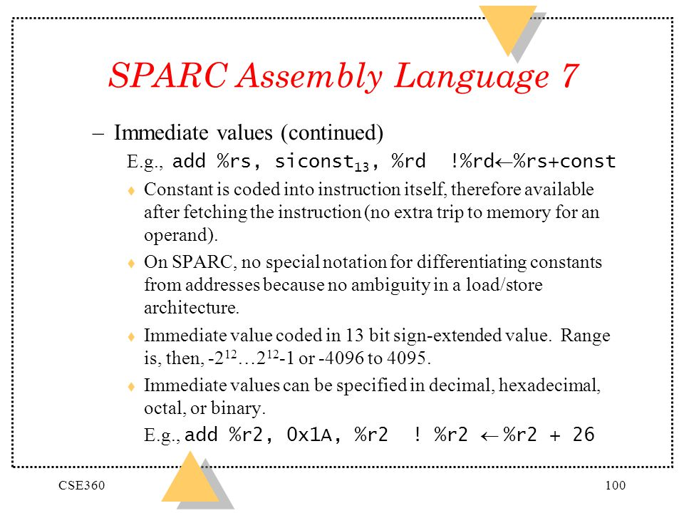 SPARC Assembly Language 7